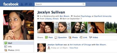 Novo perfil do Facebook