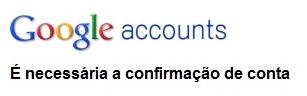 Confirme sua conta no email