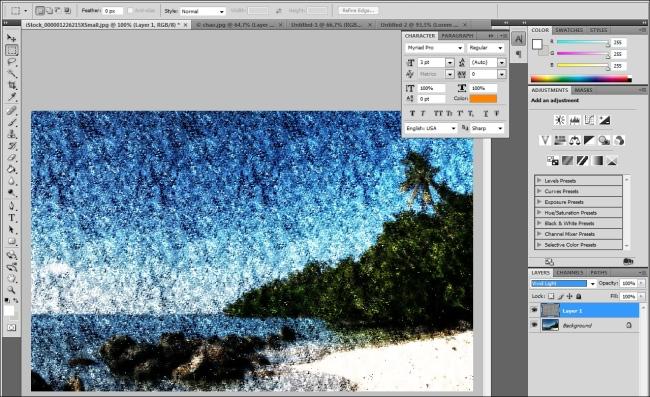 Dê impressão de pintura com as texturas.