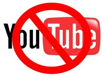 Usar o YouTube? Não pode.