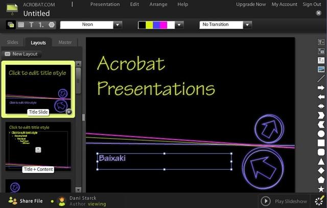 Acrobat Presentations