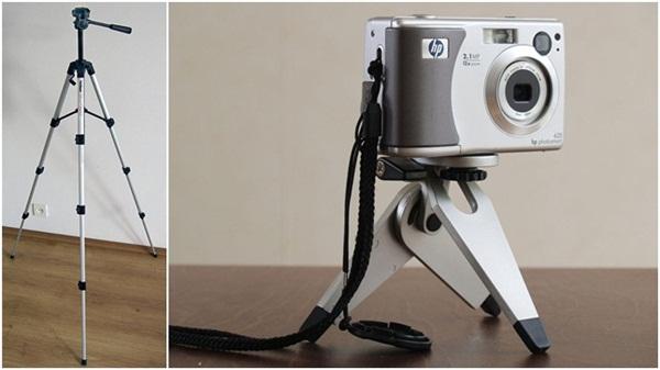Tripés fotográficos servem tanto para câmeras profissionais como para compactas
