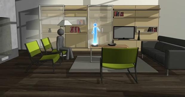 Hologramas 3D interativos no futuro
