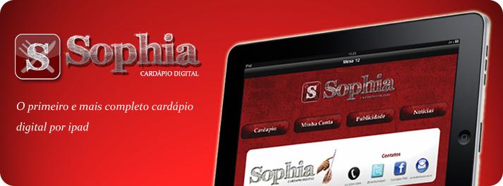 Cardápio digital Sophia