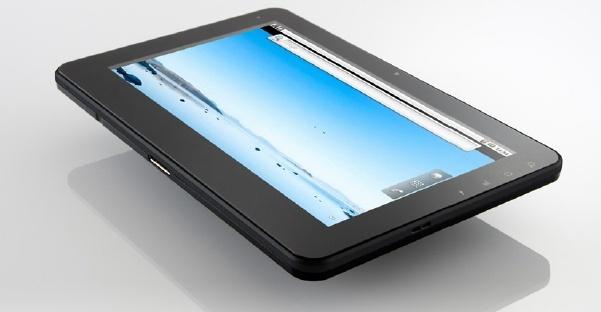 Imagens do tablet da Onkyo.