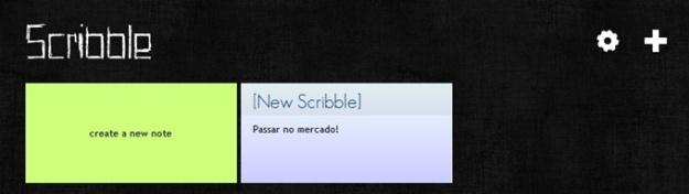 Criando notas com o Scribble