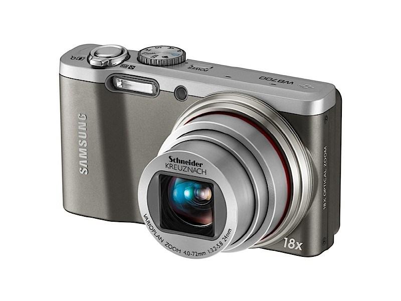 WB700: a máquina com zoom ótico de 18x. Foto: Divulgação/Samsung