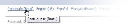 Mude o idioma para português