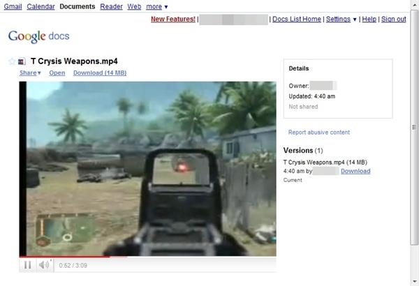 Assista os vídeos diretamente no Google Docs