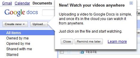 Fala upload dos arquivos rapidamente
