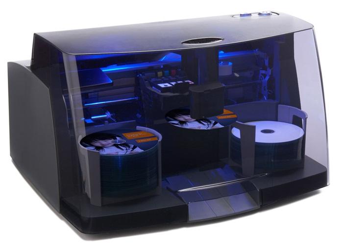 Impressoras da linha Bravo 4100 imprimem em um disco a cada 6 segundos. Fonte da imagem: Divulgação / Primera Technology