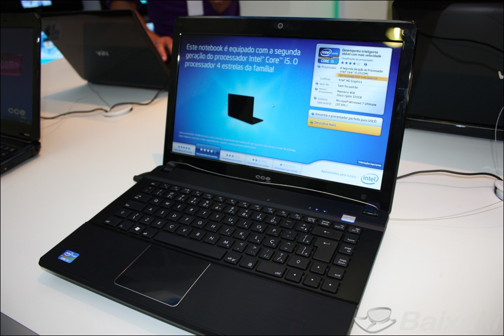 Notebook CCE equipado com o novo Intel Core iSeries