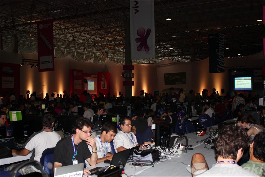 Visual da área central da Campus Party Brasil