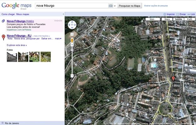 As enchentes no Rio foram destaque nos noticiários. Uma consulta no Google e você observa mapas das cidades atingidas.