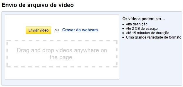 Upload no YouTube