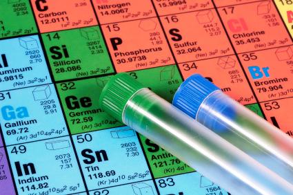 Muitos elementos químicos envolvidos