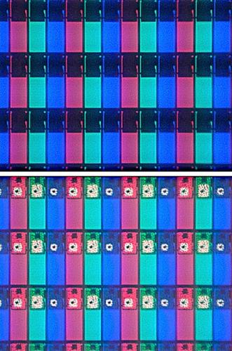 Tela LCD com transistores de Índio
