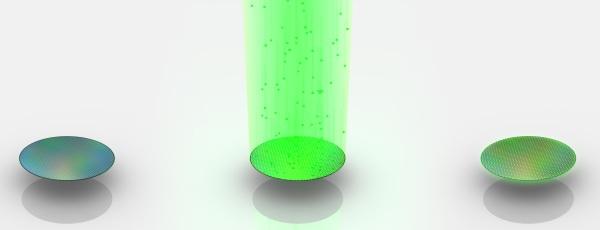Jogando átomos no wafer