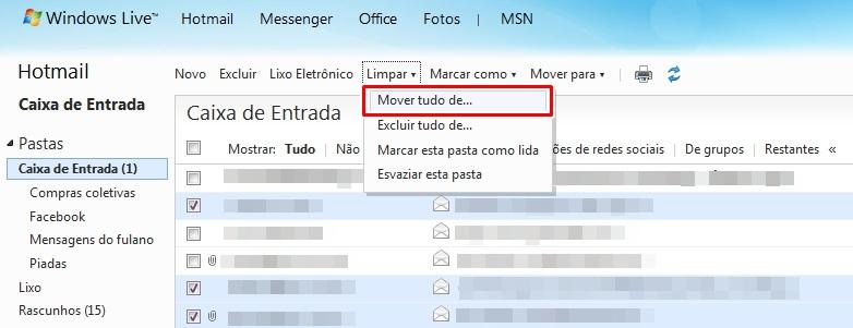 Movendo emails
