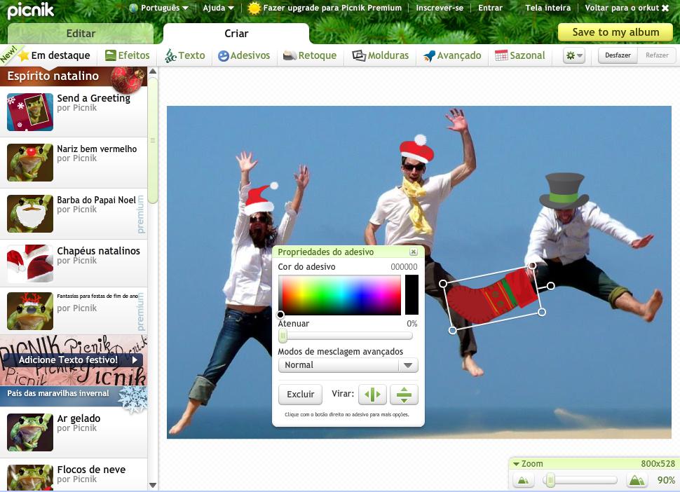 Editor de imagens integrado ao Orkut