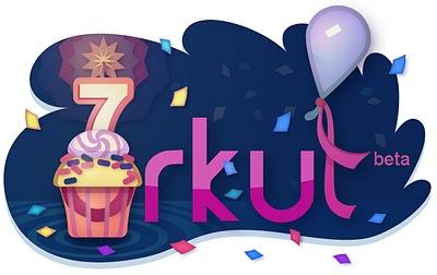 Logo de 7 anos do Orkut