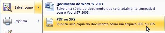 Opção para salvar os arquivos diretamente no Word