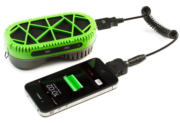 Carregador USB à base de água