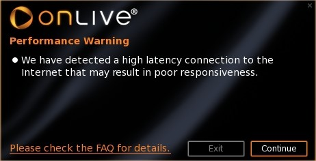 O OnLive necessita de uma conexão parruda para funcionar
