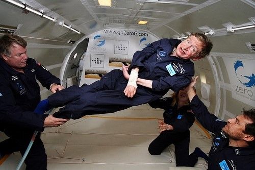 Stephen Hawkings em foto da NASA.