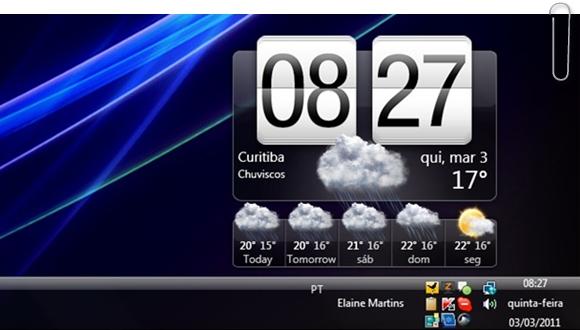 O HTC Home no Desktop