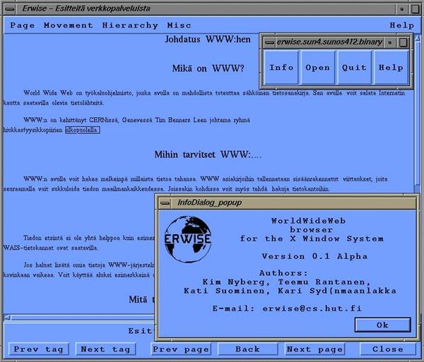 Conheça o ErWise , o primeiro navegador gráfico da historia