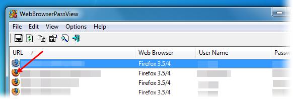 Saiba em qual navegador a senha está salva