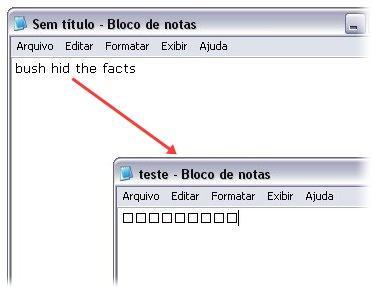 Esconda as palavras no Windows XP