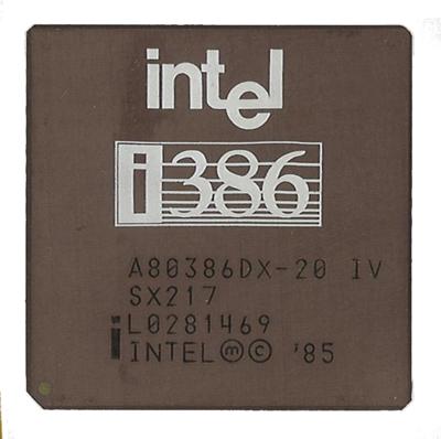 Intel 386 já foi poderoso