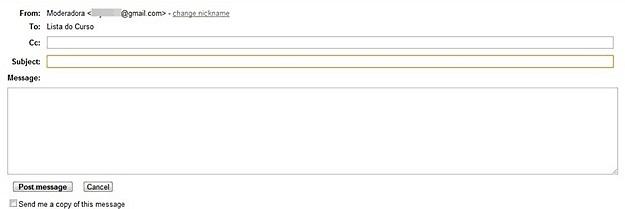 Utilizando o formulário