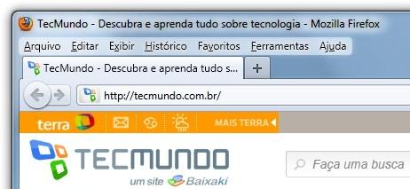 Sem o botão, o Firefox não fica agradável.