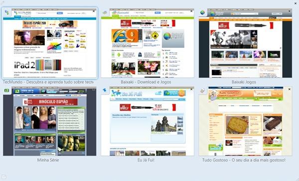 Abas organizadas no Firefox