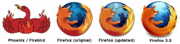 Logo do Phoenix até o Firefox