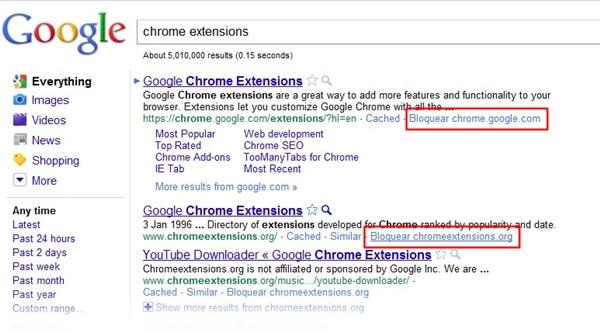 Bloqueie sites indesejados da busca no Google