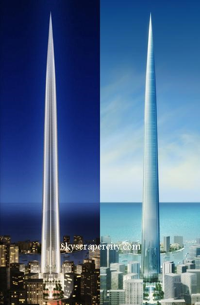 Projeções do Kingdom Tower
