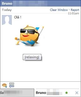 Chat com novos emoticons!
