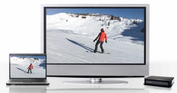 As imagens do PC diretamente na TV. Fonte: Divulgação