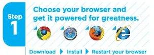 Selecione o seu navegador