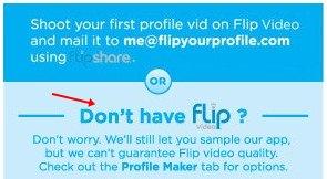 Clique se você não tiver um Flip SG