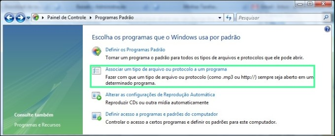 Programas padrão do Windows