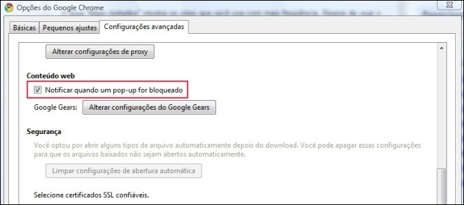 Notificações no Google Chrome