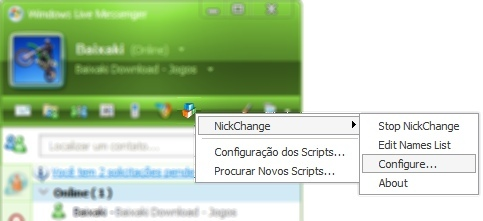 Automatize a mudança de nicks no Windows Live Messenger.