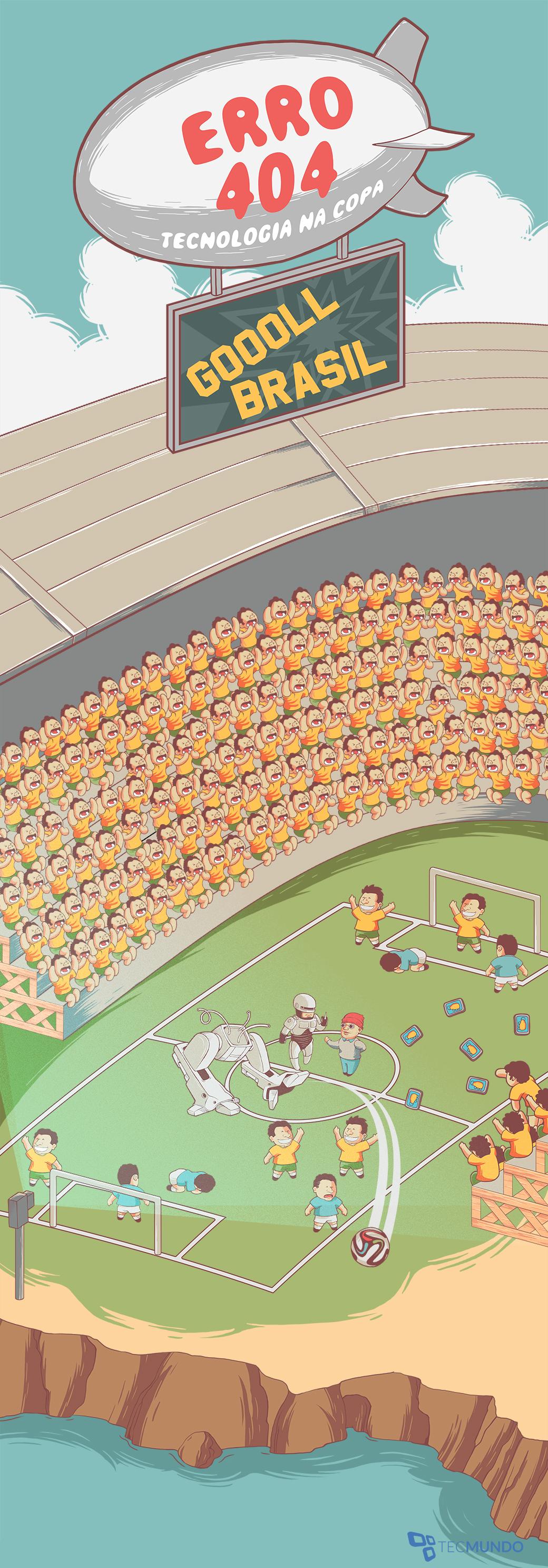 Erro 404: os bugs da Copa do Mundo [ilustração]