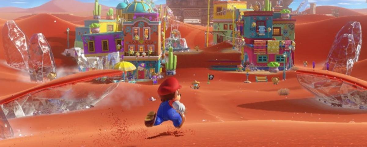Vídeo mostra algumas das áreas presentes em Super Mario Odyssey