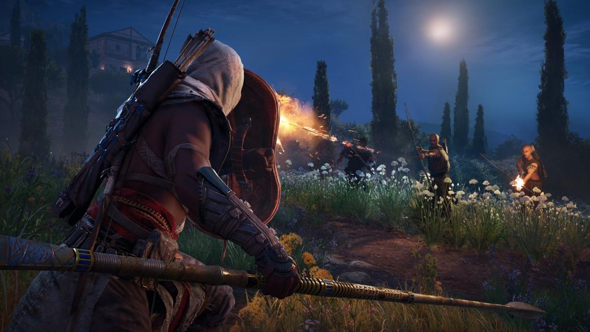 Novo vídeo de AC Origins em 4K no Xbox One X mostra combate à la Dark Souls